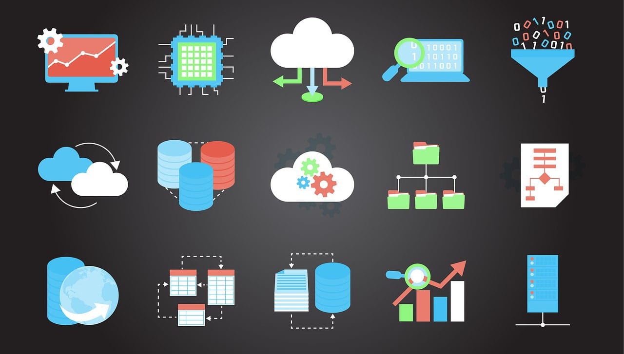 Image presenting icons of different cloud solutions